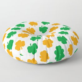 Irish Shamrocks Floor Pillow