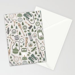 Camping Earth Tones Stationery Cards