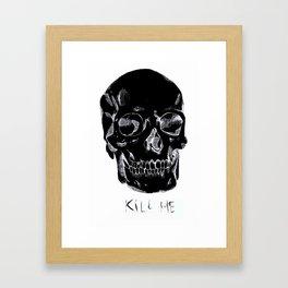 Skull variation B/W Framed Art Print