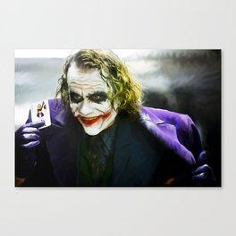 The Joker (TDK) Digital Painting  Canvas Print