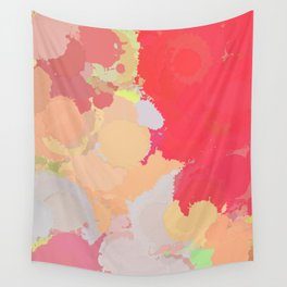 Red abstract splatter Wall Tapestry