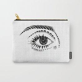 Pointillism Eye - B&W Carry-All Pouch