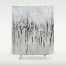Evening Music - Calm and Peaceful Grasses Shower Curtain