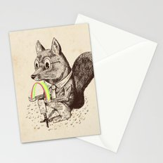 Strange Fox Stationery Cards