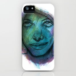 Colourful face iPhone Case