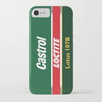 f1 iPhone & iPod Cases featuring Lotus F1 107B 1993 by Krakenspirit