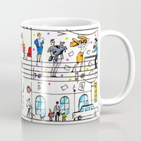 office Mugs featuring office romance by peopletoo