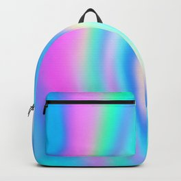 Iridescent Holographic Abstract Colorful Pattern Backpack