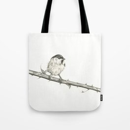 Milk-Warm Mewling of Chickadees Tote Bag