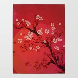 Kirschblütenzweig Poster