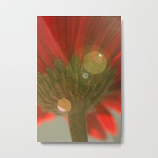 Green Stem Metal Print