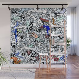 Retro Kamasutra LOVE Doodle  Wall Mural