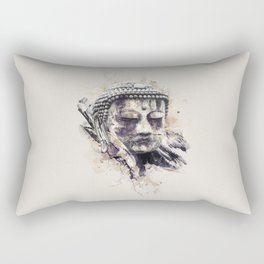 Buddha (Brown Version) Rectangular Pillow
