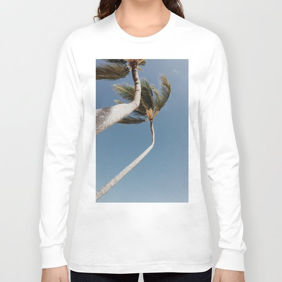 Crooked Palm Trees Long Sleeve T-shirt