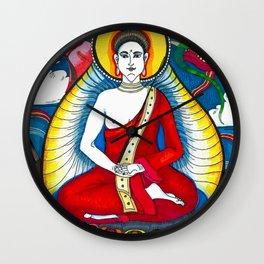 Buddha with Dragons Wall Clock