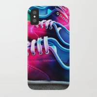 sneakers iPhone & iPod Cases featuring sneakers by NatalieBoBatalie