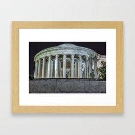 Jefferson Memorial - Side View Framed Art Print