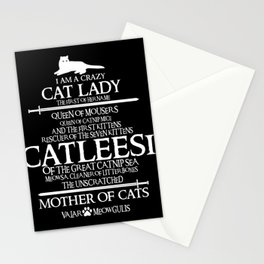 I Am a Crazy Cat Lady Funny Gift for Cats Lovers Stationery Cards