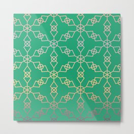Green Star Trellis Metal Print