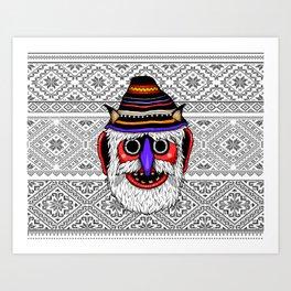 Bucovina Mask / Masca de Bucovina Art Print