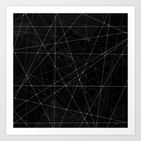 constellations Art Prints featuring Constellations by Dood_L