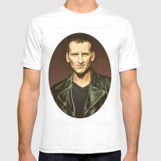 The Ninth Doctor MEDIUM White Mens Fitted Tee
