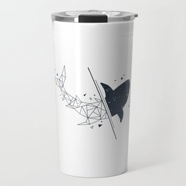 Shark. Geometric style Travel Mug