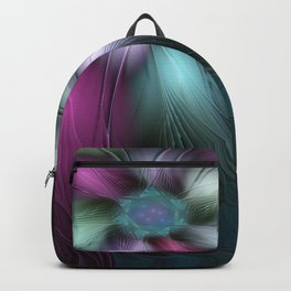 Soft And Colorful, Abstract Fractal Art Backpack