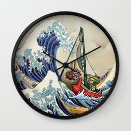 Great Wave + Link Wall Clock