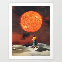 Your Heart Is The Sun Art Print