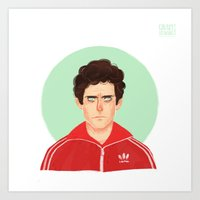 tenenbaum Art Prints featuring Chas Tenenbaum by Galaxyspeaking
