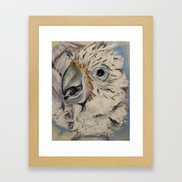 """Food Thanks"" Cockatoo Chick Framed Art Print"