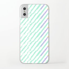 Green Drops of Time Clear iPhone Case