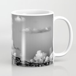 Istanbul: A Fusion of Black and White Coffee Mug