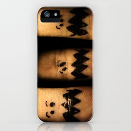 Scared Fingers iPhone Case