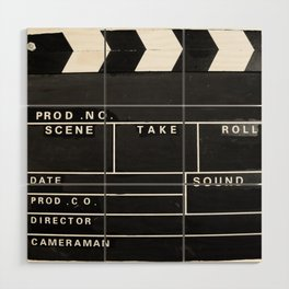 Film Movie Video production Clapper board Wood Wall Art