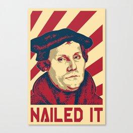 Martin Luther Retro Propaganda Canvas Print