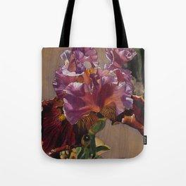 Sunkissed Pink Iris Tote Bag