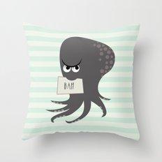 Squid of Contempt Throw Pillow