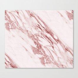 Deep rose pink marble Canvas Print