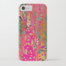Tropical Summer colorful botanical pattern iPhone 7 Slim Case