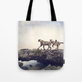 Cheetah Sprint Tote Bag
