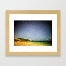 Night Beach Framed Art Print