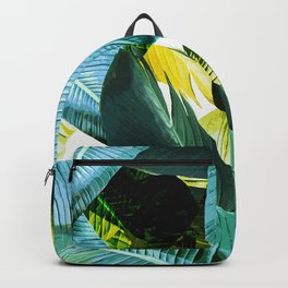 Banana leaf, tropical, Hawai, leaves, greens, palm leaves, outdoors, beach decor Backpack