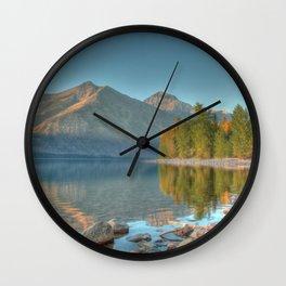 Lake McDonald HDR Wall Clock