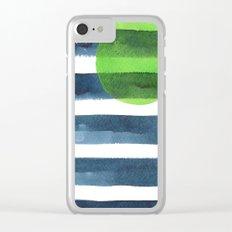 Luna verde Clear iPhone Case