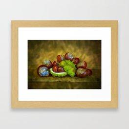 Conker Season Framed Art Print