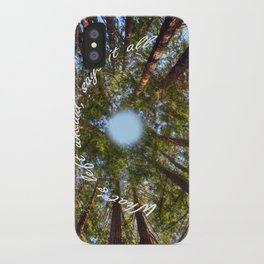 What's left unsaid, says it all! iPhone Case
