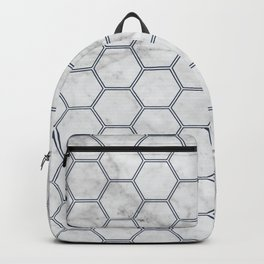 Honeycomb Marble Navy #871 Backpack