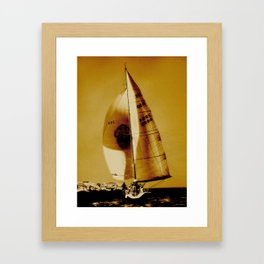 big beautiful sailboat Framed Art Print